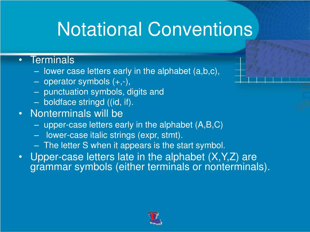Notational Conventions
