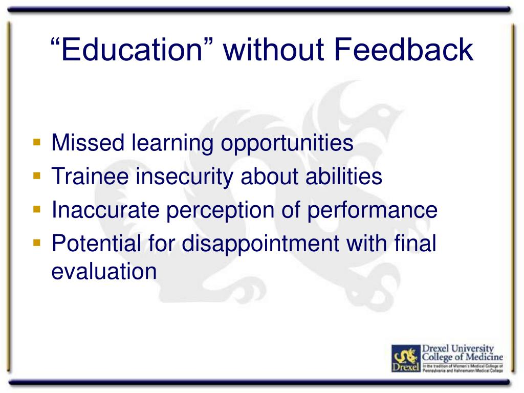 """Education"" without Feedback"