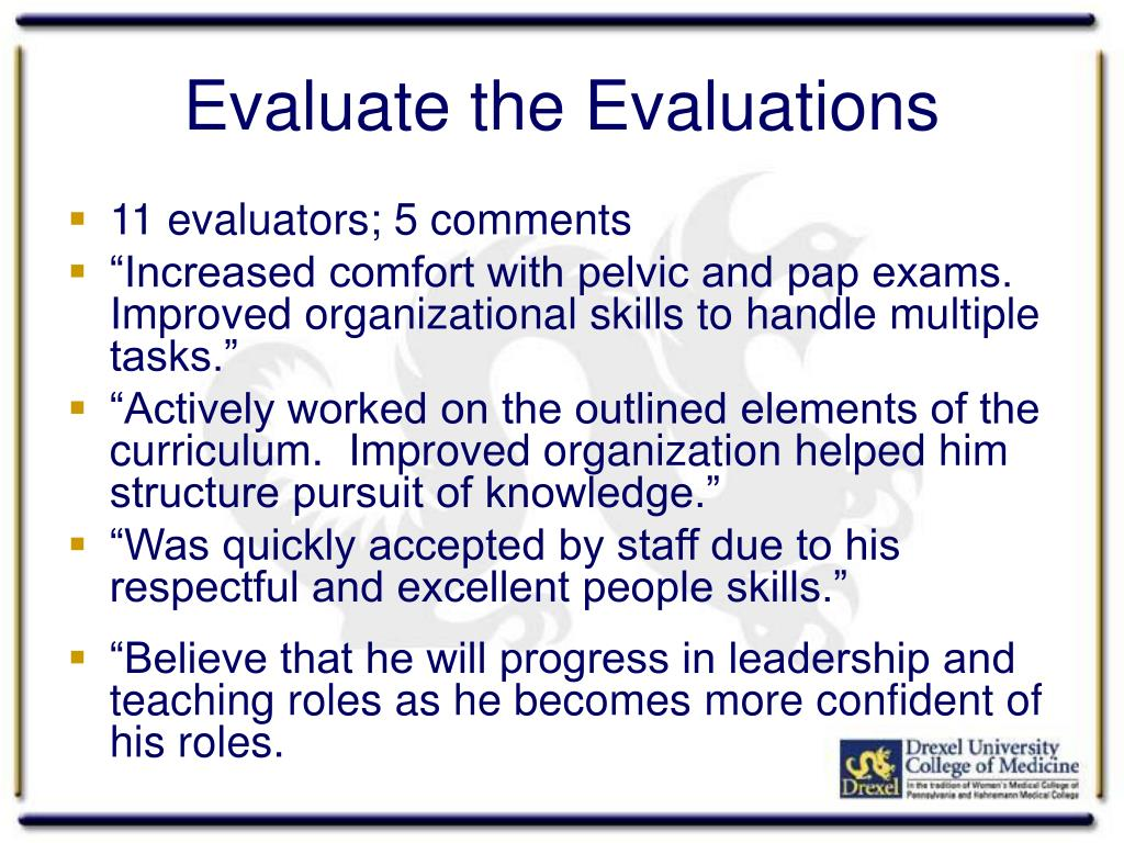 Evaluate the Evaluations