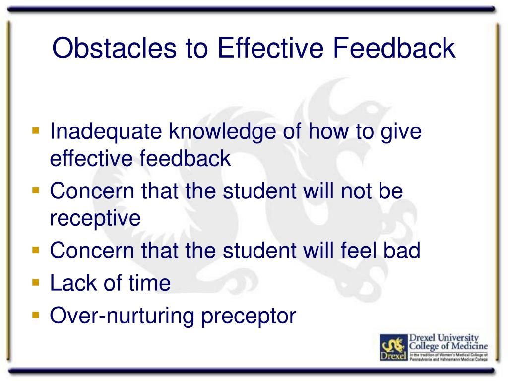 Obstacles to Effective Feedback