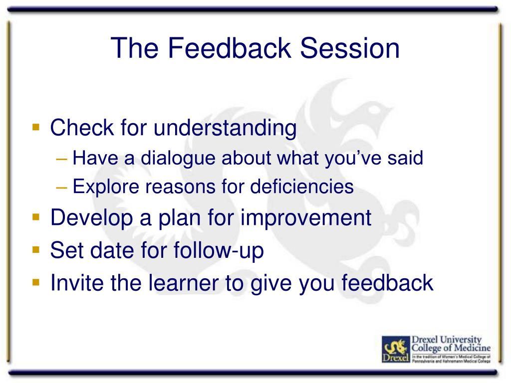 The Feedback Session