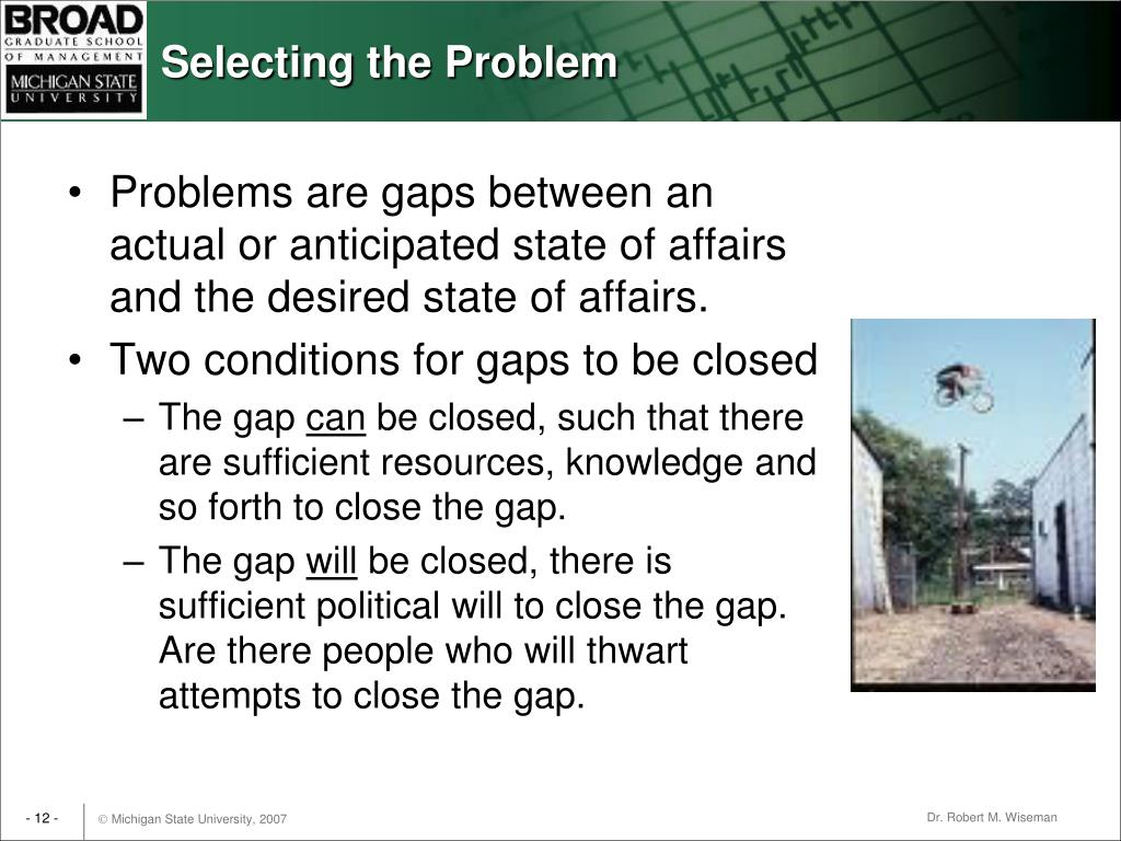 Selecting the Problem