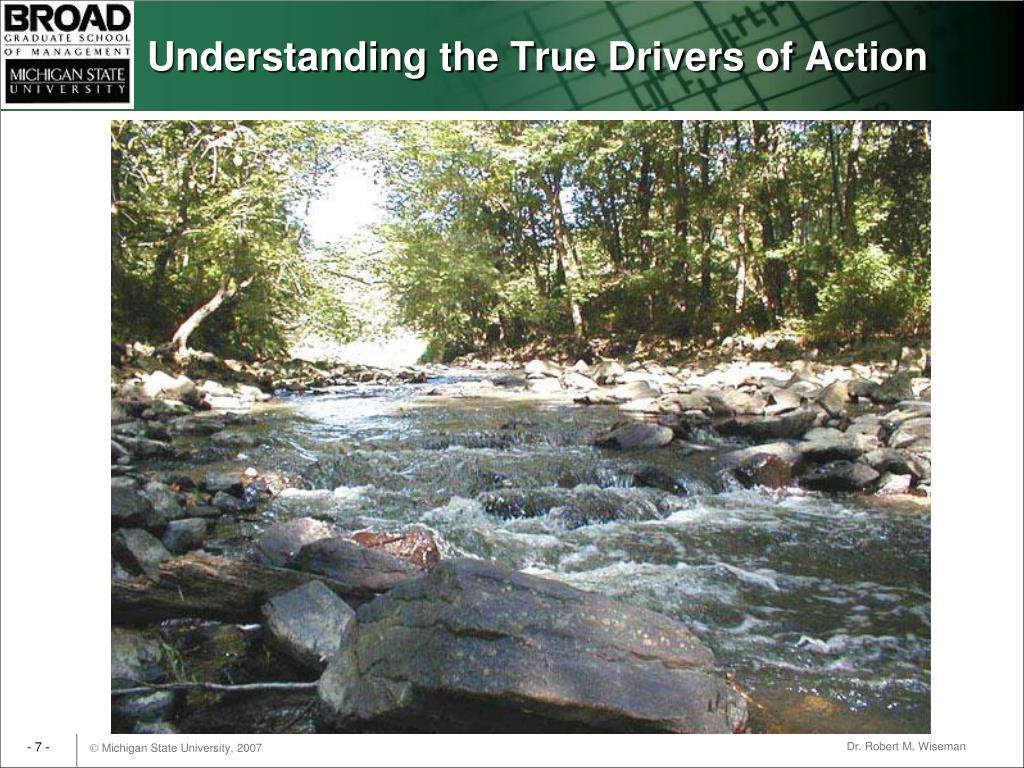 Understanding the True Drivers of Action