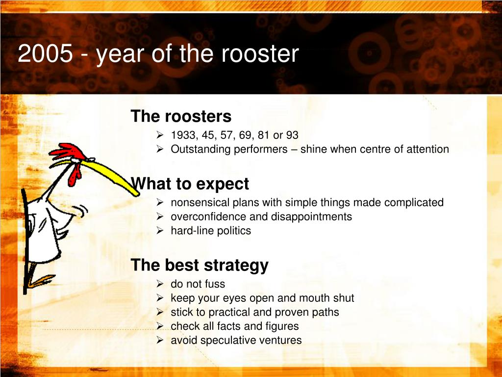 2005 - year of the rooster