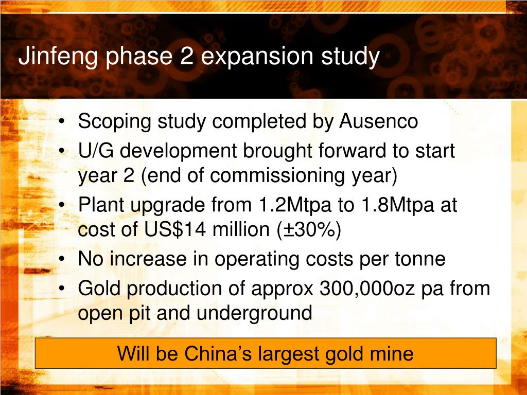Jinfeng phase 2 expansion study
