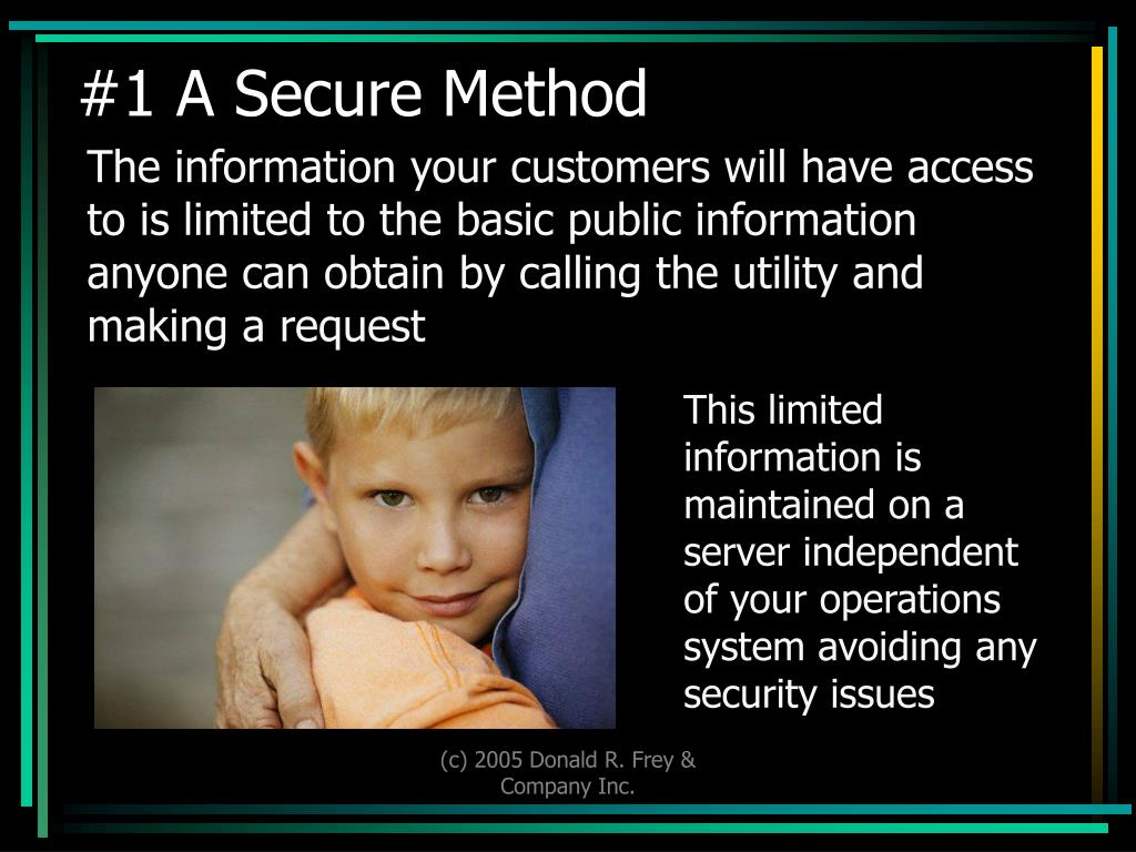 #1 A Secure Method