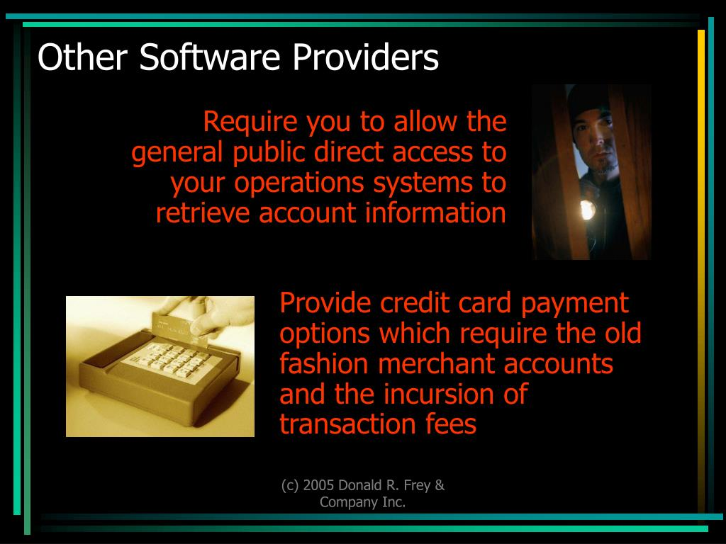 Other Software Providers