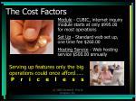 the cost factors