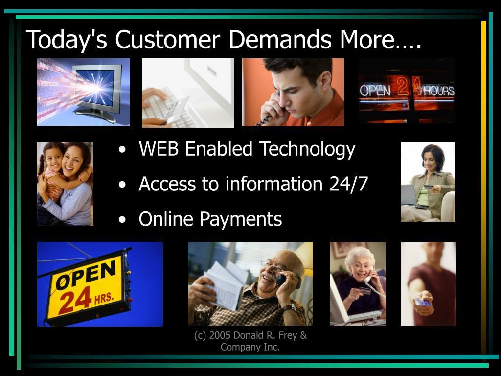 Today's Customer Demands More….