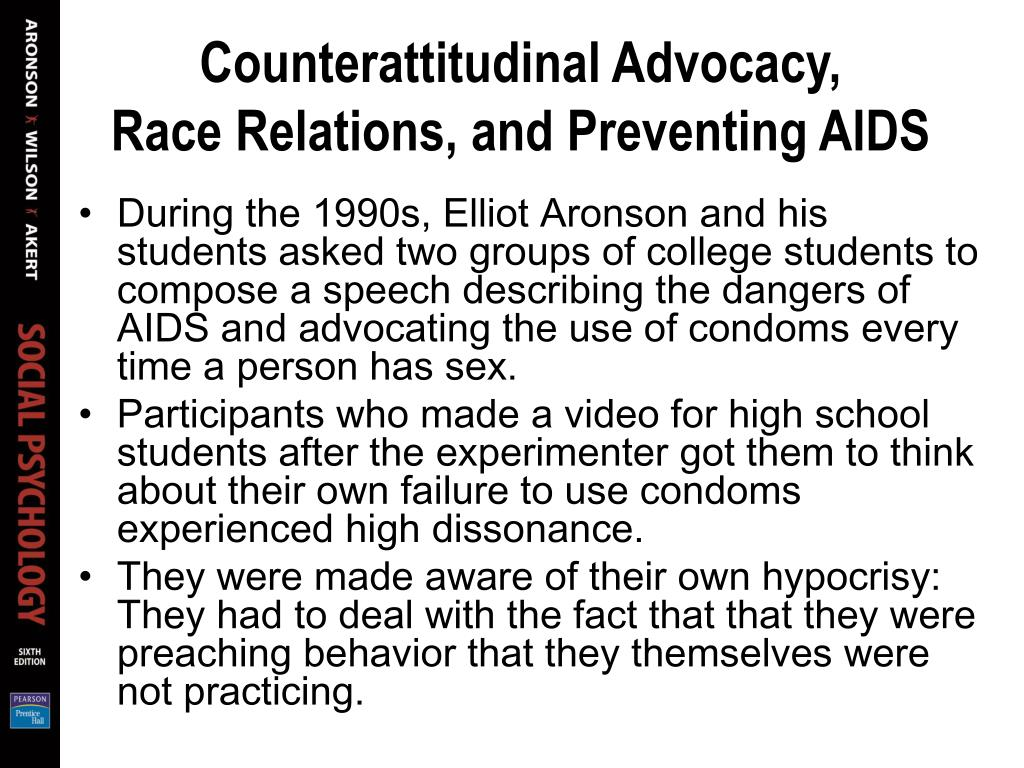 Counterattitudinal Advocacy,