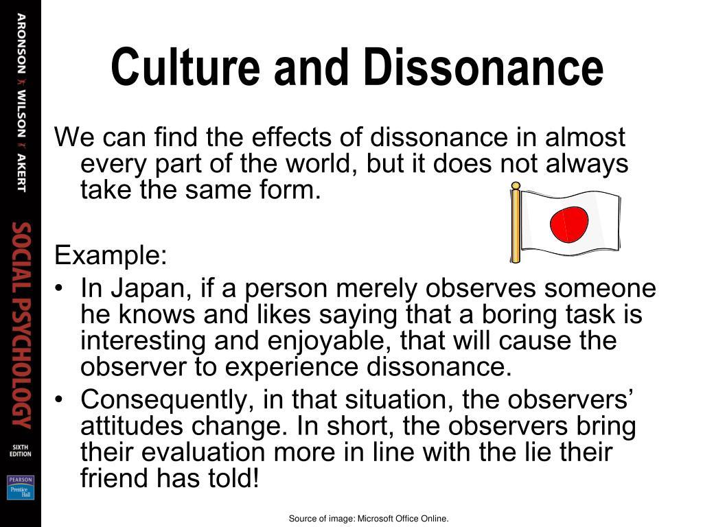 Culture and Dissonance