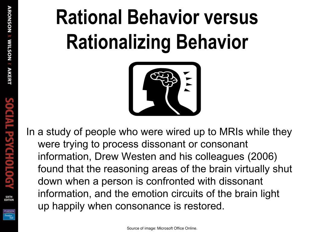 Rational Behavior versus Rationalizing Behavior