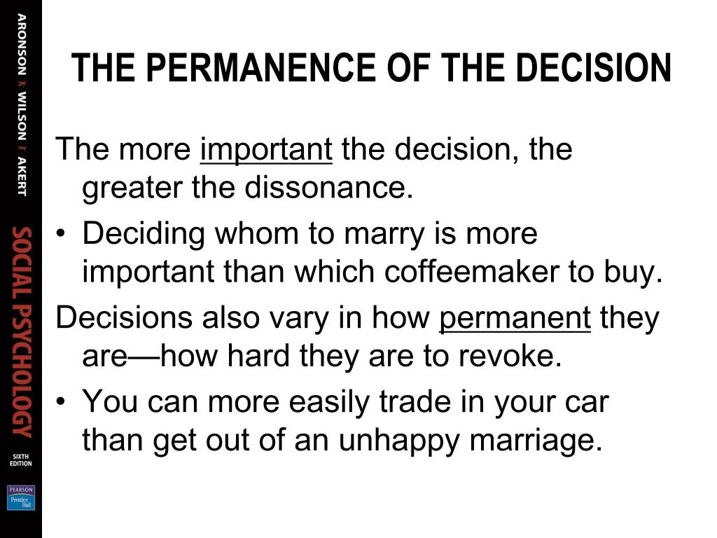 THE PERMANENCE OF THE DECISION