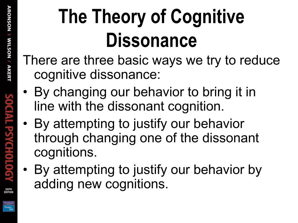 The Theory of Cognitive Dissonance