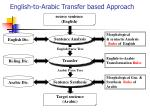 english to arabic transfer based approach
