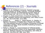 references 2 journals