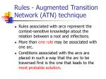 rules augmented transition network atn technique