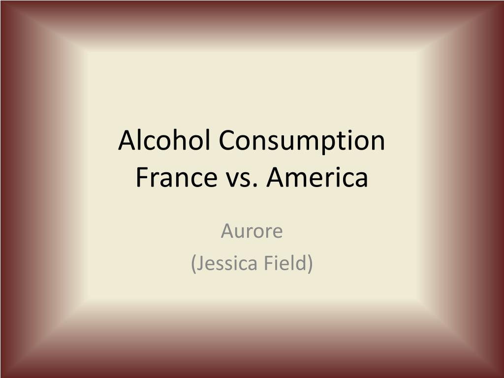 alcohol consumption france vs america