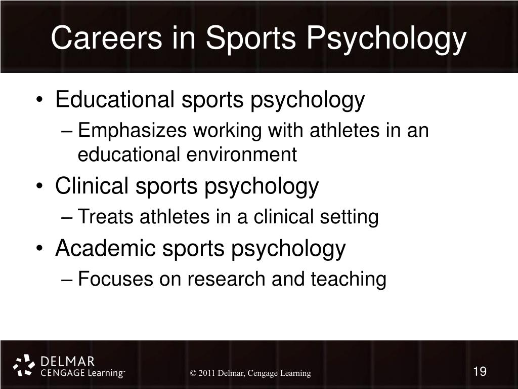 Careers in Sports Psychology