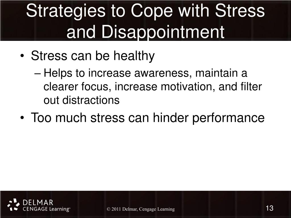Strategies to Cope with Stress and Disappointment