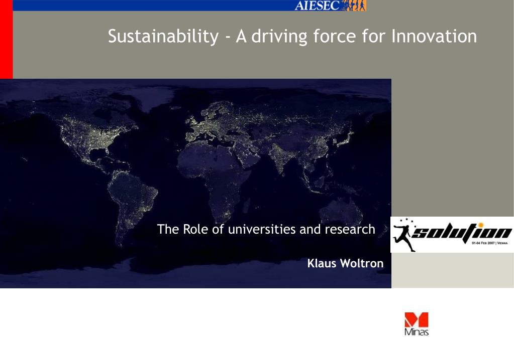 sustainability a driving force for innovation