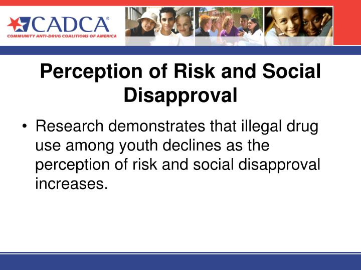 Perception of risk and social disapproval