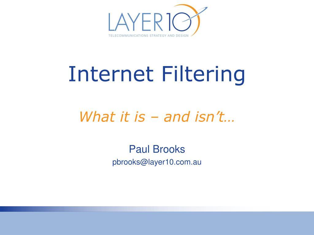 internet filtering l.