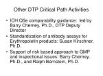 other dtp critical path activities