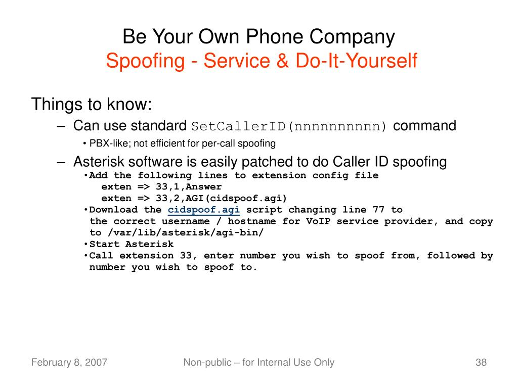 Be Your Own Phone Company
