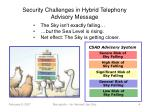 security challenges in hybrid telephony advisory message