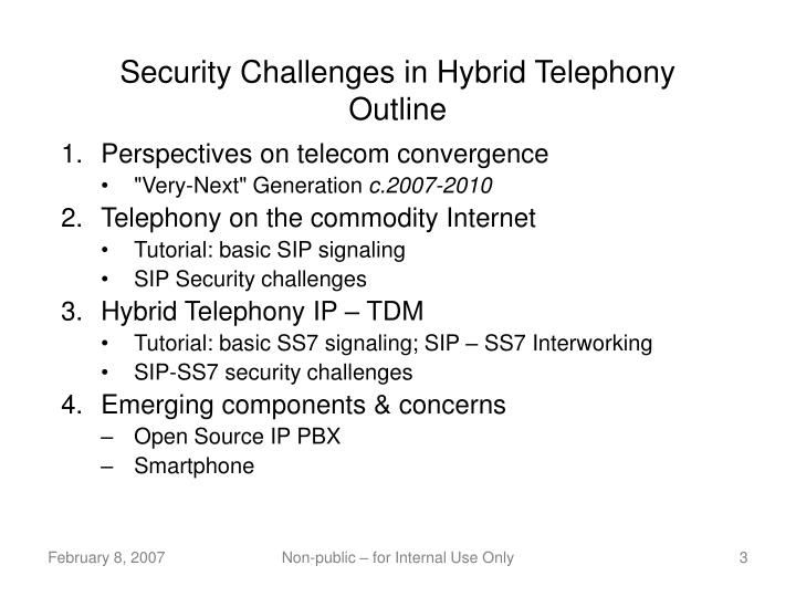 Security challenges in hybrid telephony outline