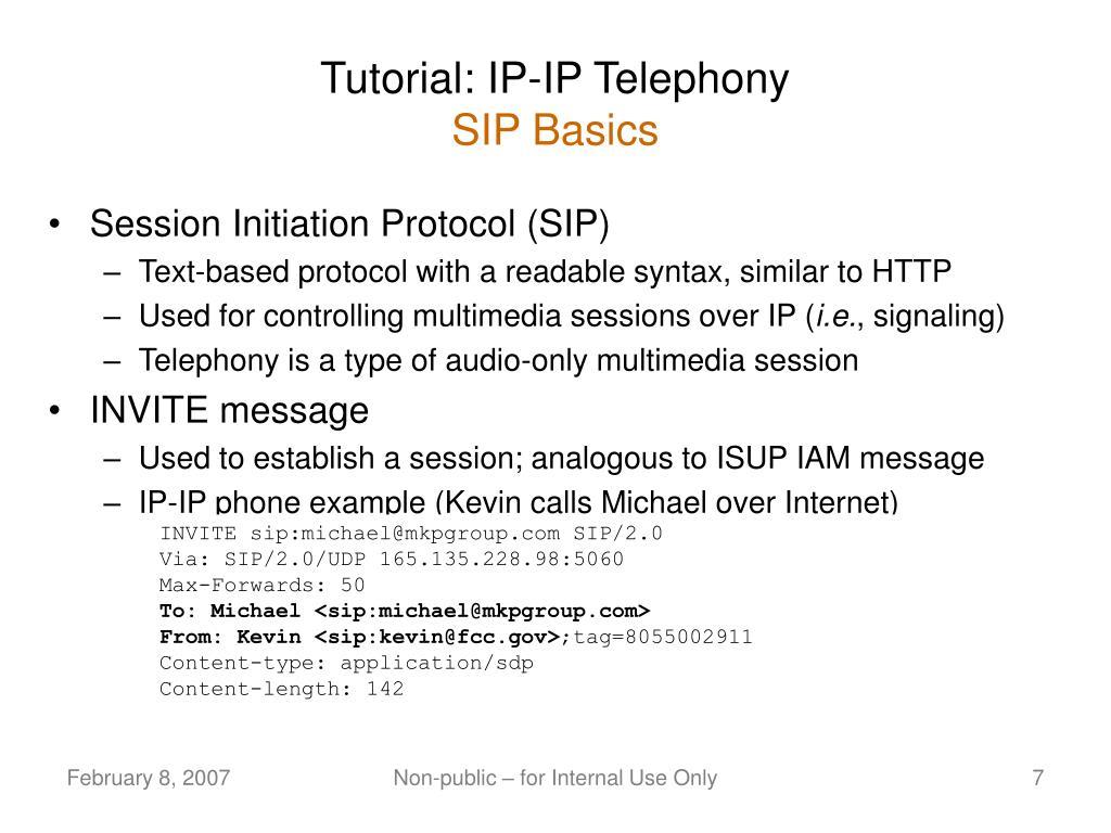Tutorial: IP-IP Telephony