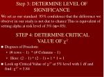 step 4 determine critical value of 2