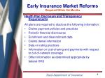 early insurance market reforms required within six months