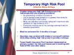 temporary high risk pool effective within 90 days