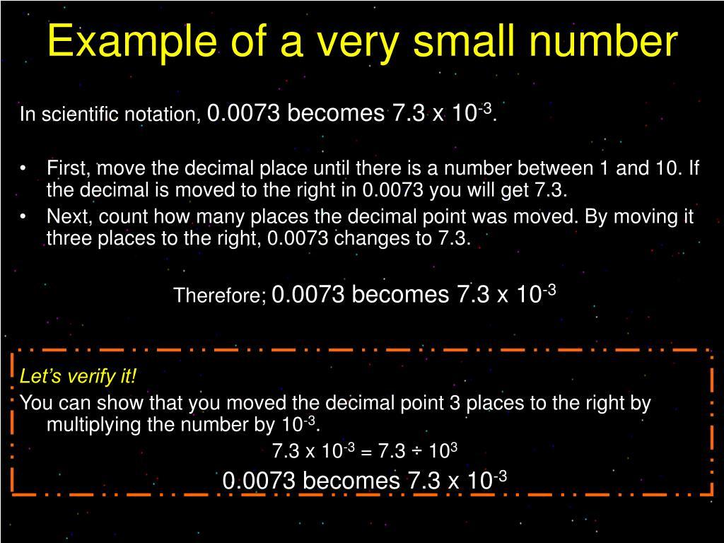 In scientific notation,