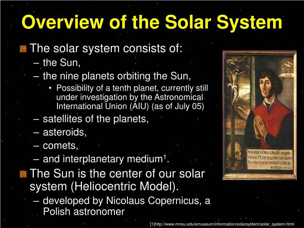 Overview of the Solar System