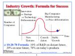 industry growth formula for success