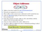 object addresses