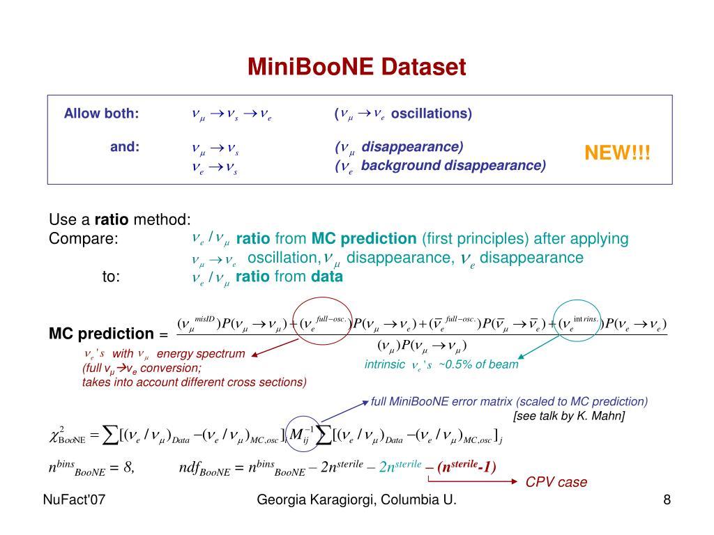 MiniBooNE Dataset
