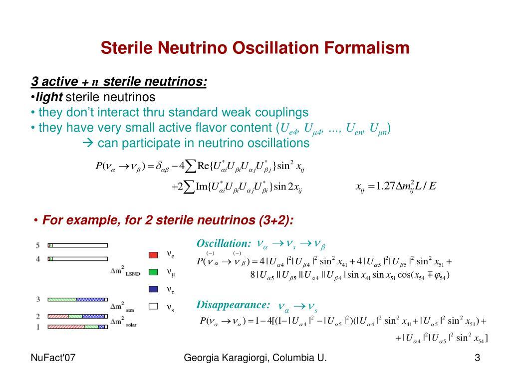Sterile Neutrino Oscillation Formalism