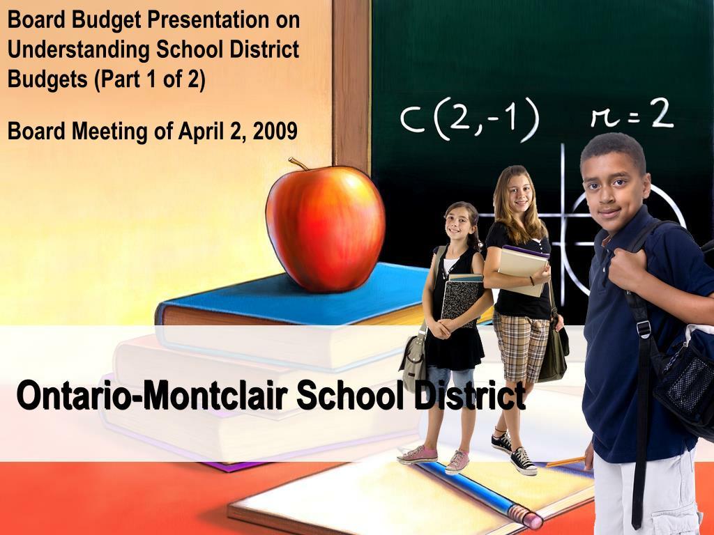 Board Budget Presentation on Understanding School District Budgets (Part 1 of 2)