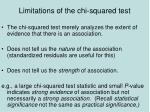 limitations of the chi squared test