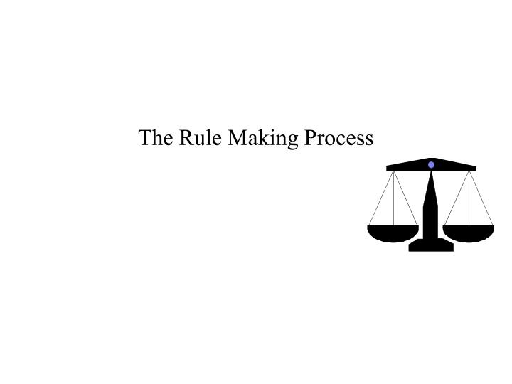 The rule making process
