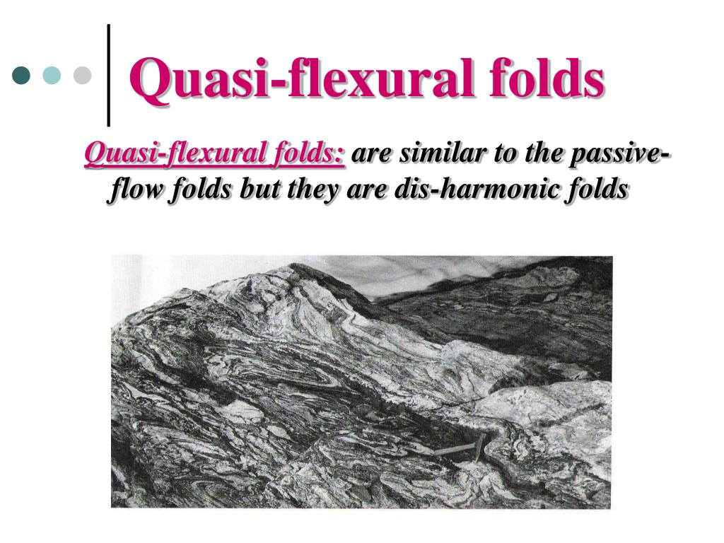 Quasi-flexural folds