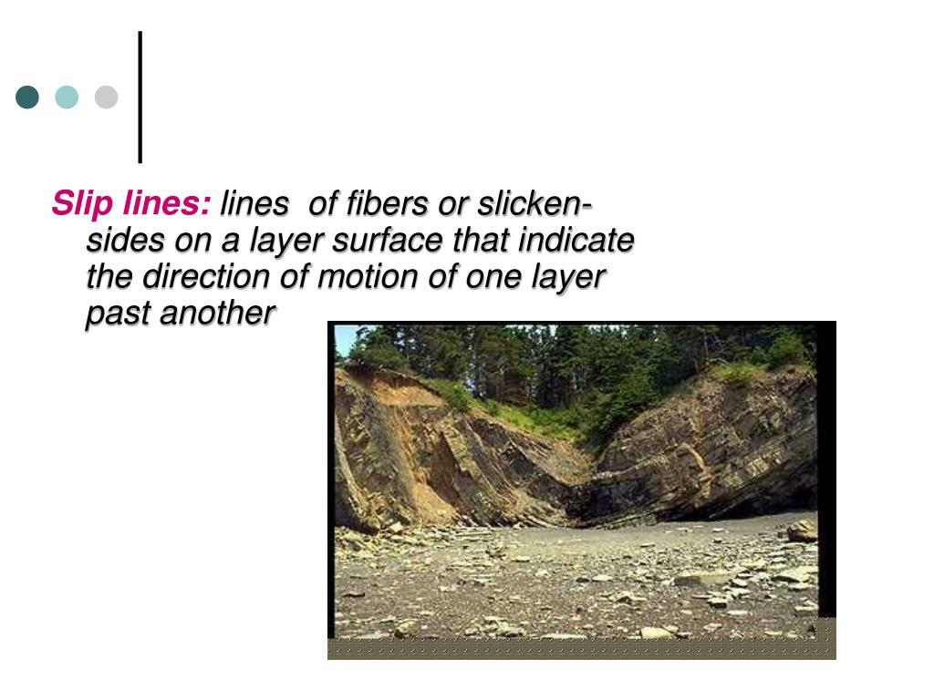 Slip lines: