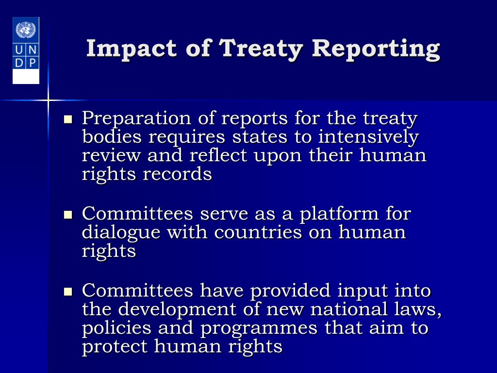 Impact of Treaty Reporting