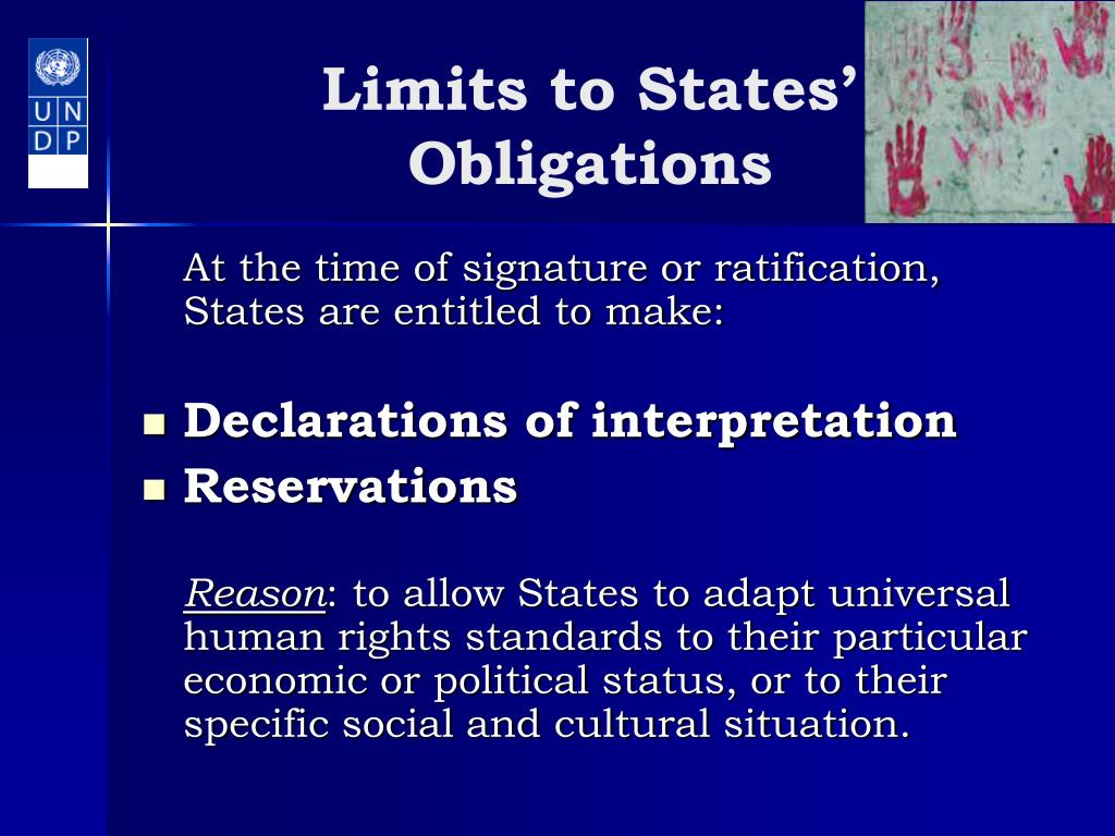 Limits to States' Obligations