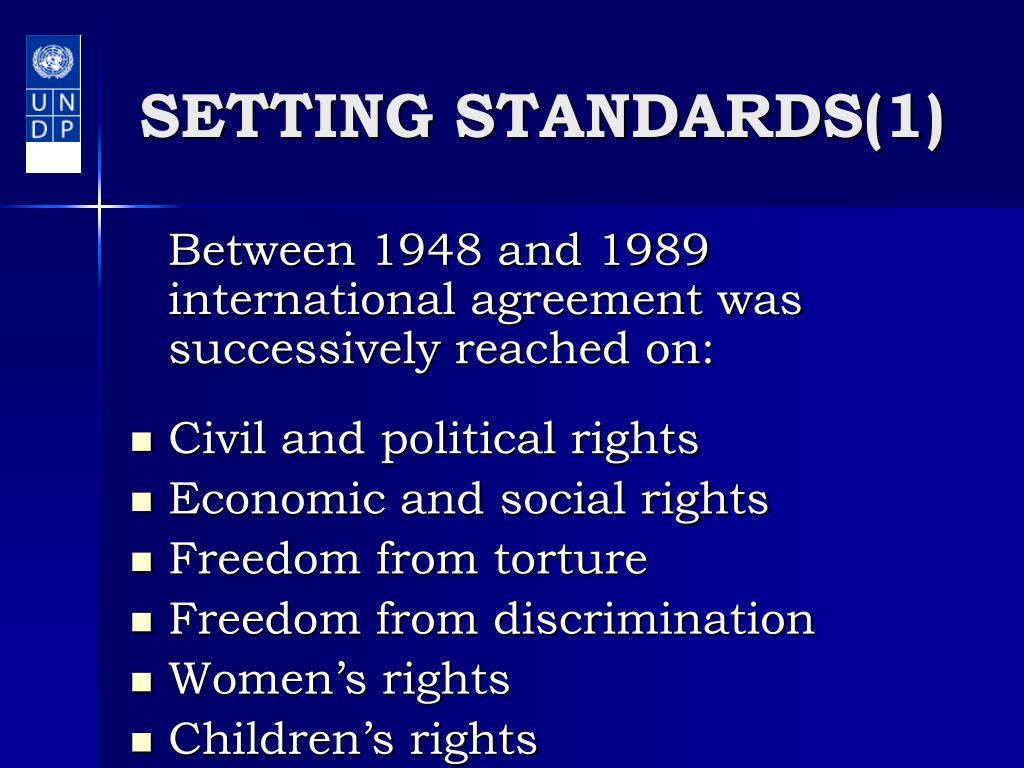 SETTING STANDARDS(1)
