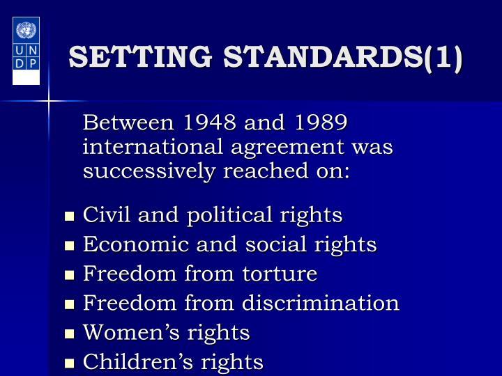 Setting standards 1